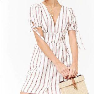 F21 plunging striped dress